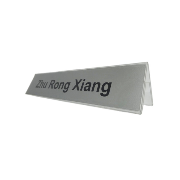 9050d a shape acrylic table top name plate holder great partner