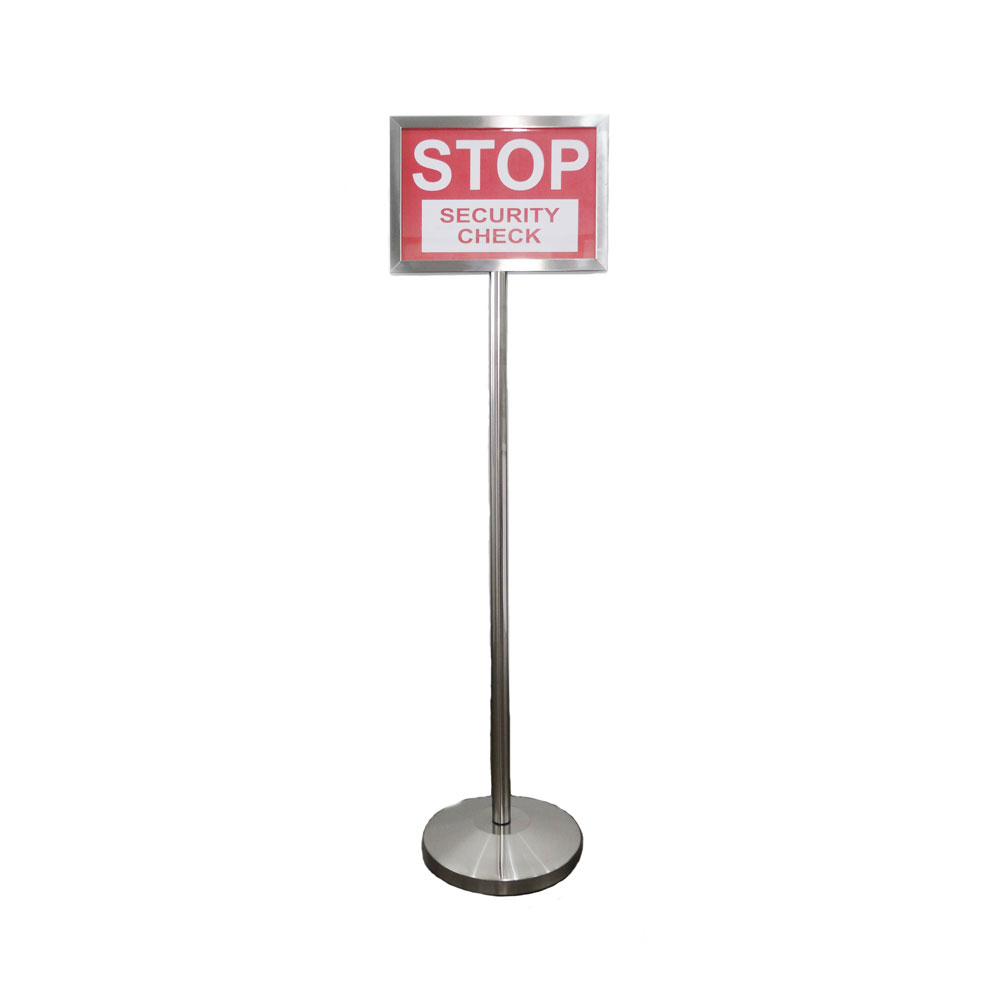 1740ss Stainless Steel Portable Sign Stand Great Partner